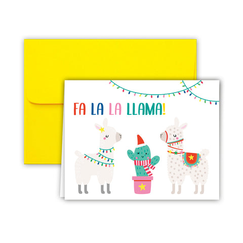 Paper Frenzy Fa La Llama Christmas Cards and Envelopes - 25 pack