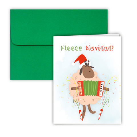 Paper Frenzy Fleece Navidad Sheep Christmas Cards and Envelopes -25 pack
