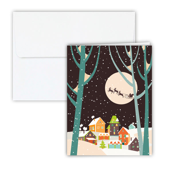 Christmas Village Holiday Cards