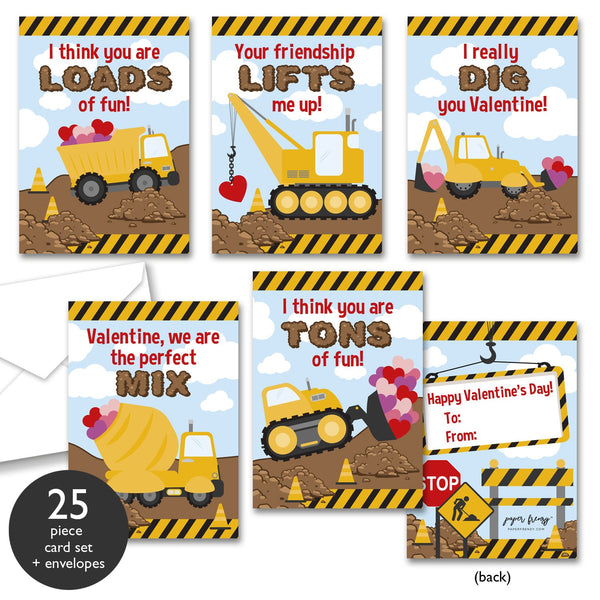 Construction Themed Valentine Cards