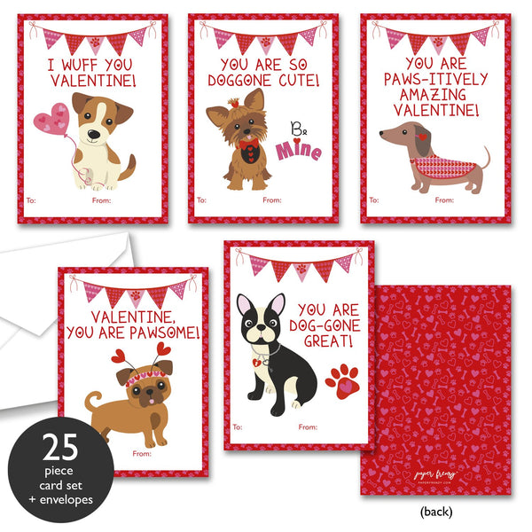 Dog Themed Valentine Cards