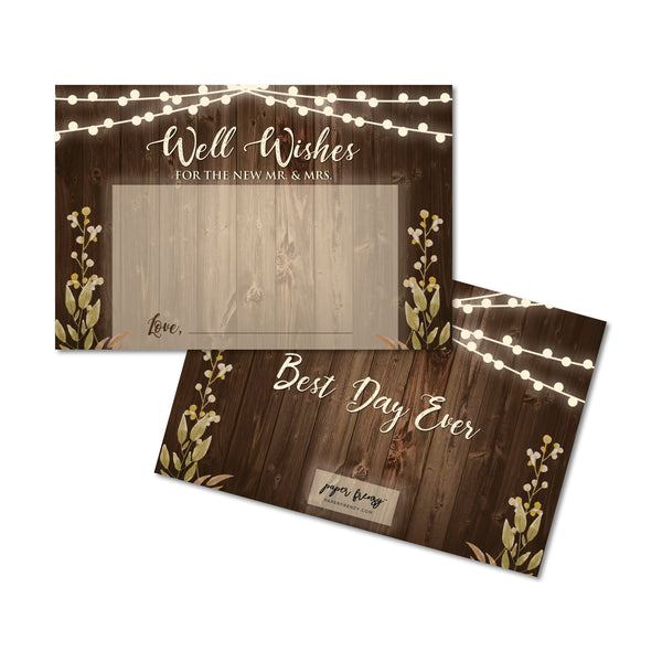 Rustic Well Wishes Cards