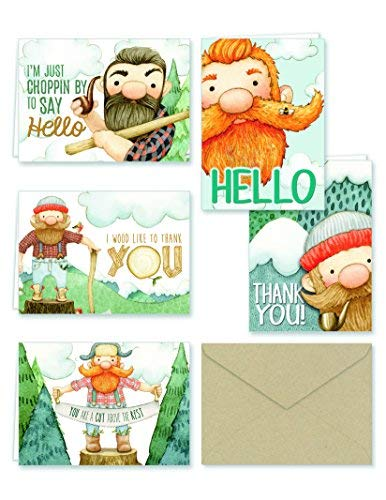 Lumberjack Thank You and General Note Cards