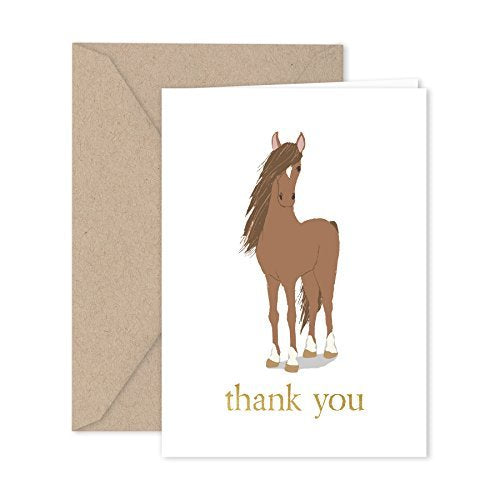 Horse Thank You Note Cards