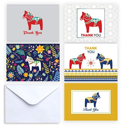 Dala Horse Collection Thank You and Note Cards