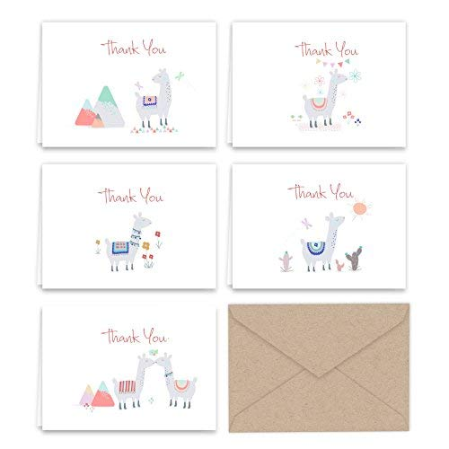 Llama Thank You Note Cards
