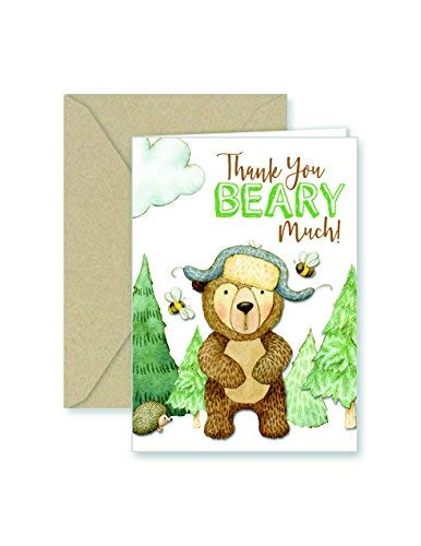 Bear Thank You Note Cards