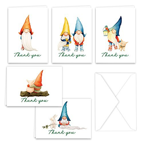 Gnomes Thank You Note Card Collection
