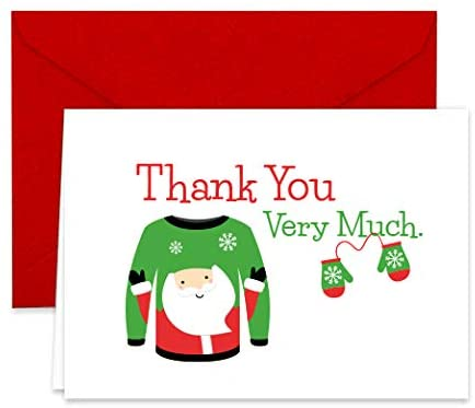 Christmas Sweaters Collection Thank You Note Cards