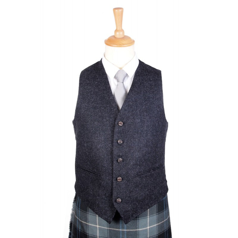 Argyle Tweed Charcoal Vest