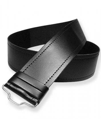 Adjustable Plain Black Kilt Belt