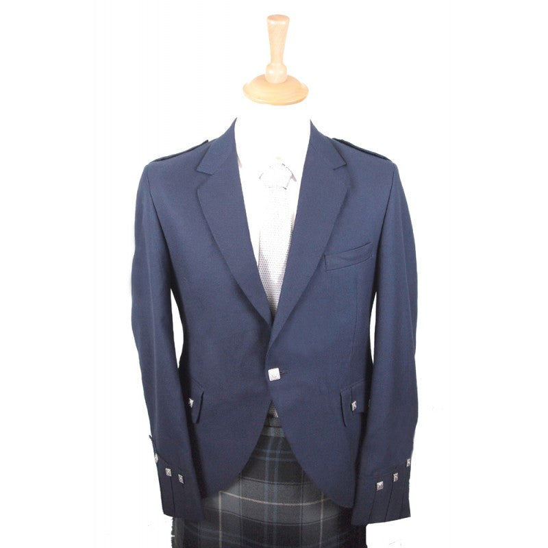 Navy Blue Argyle Jacket & Vest