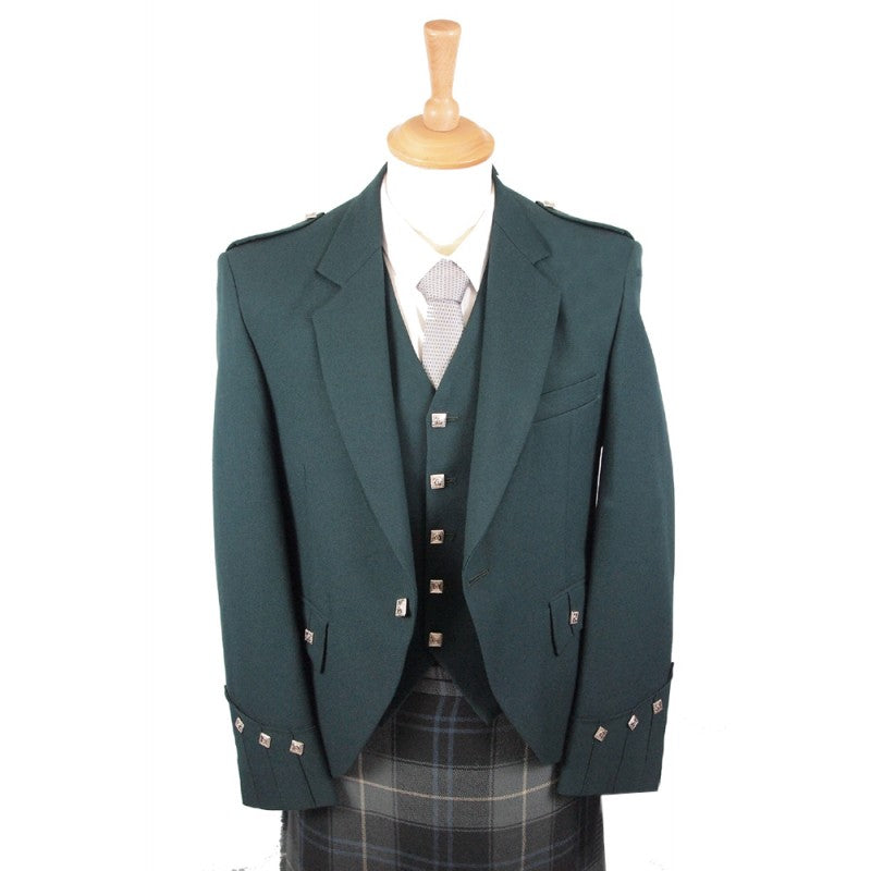 Bottle Green Argyle Jacket & Vest
