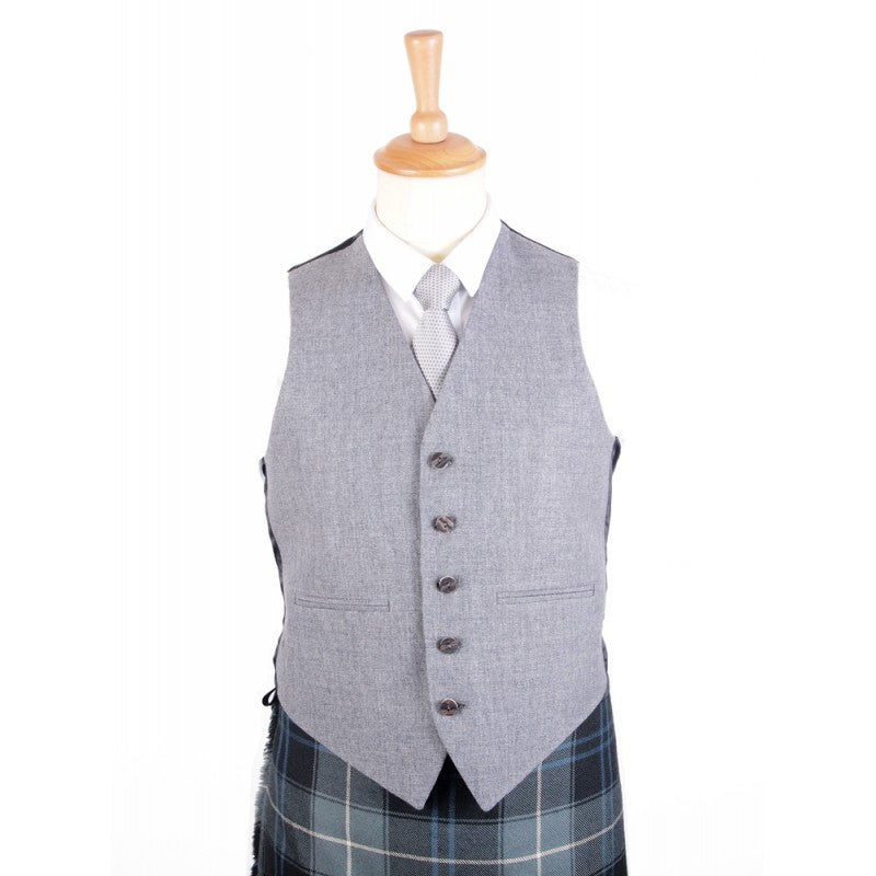 Braemar Tweed Vest in Grey Arrochar