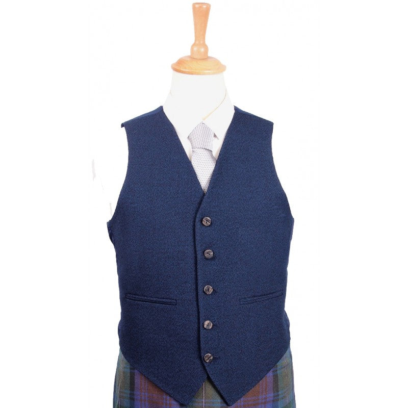 Braemar Tweed Vest in Navy Arrochar