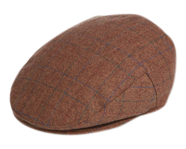 Brown Plaid Wool Cap