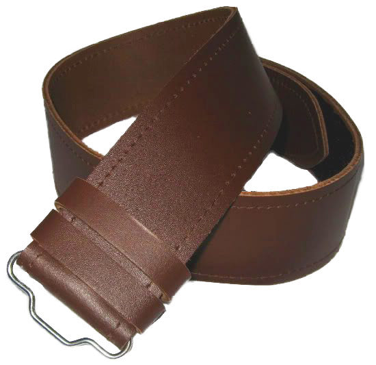 Adjustable Brown Plain Kilt Belt