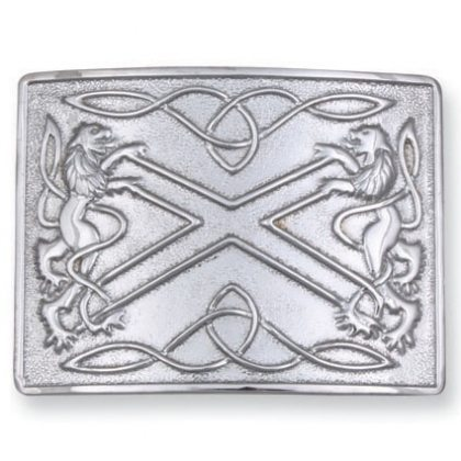 Rampant Lion/St. Andrews Cross Kilt Belt Buckle
