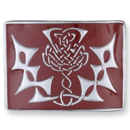 Red Thistle Kilt Belt Buckle