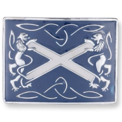 Blue Rampant Lion St. Andrews Kilt Belt Buckle