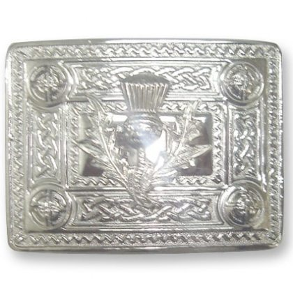 Thistle & Dome Kilt Belt Buckle