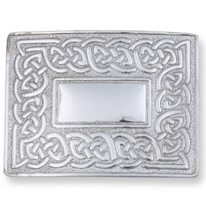 Celtic Knot with Mirror Finish Kilt Belt Buckle