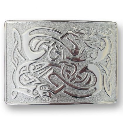Celtic Dragons Kilt Belt Buckle