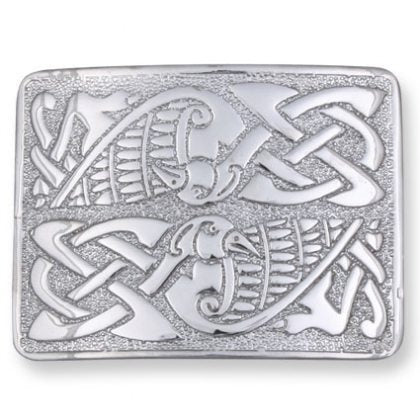 Celtic Birds Kilt Belt Buckle