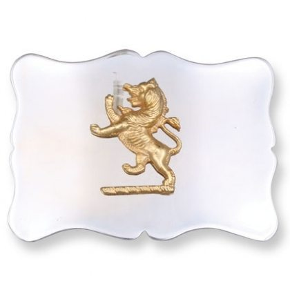 Gold Rampant Lion Kilt Belt Buckle