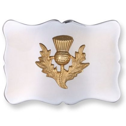 Gold Thistle Kilt Belt Buckle