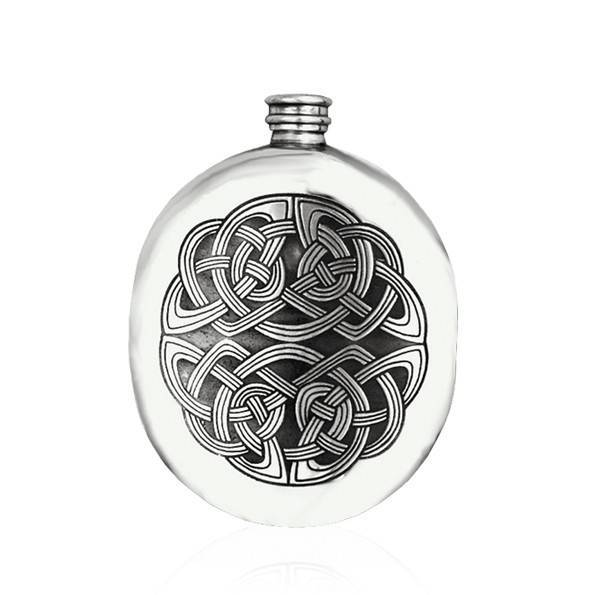Celtic Sporran 6oz Pewter Hip