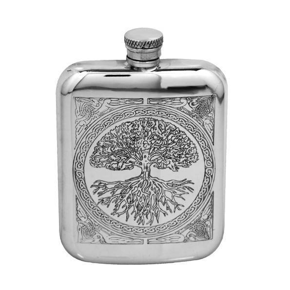 Tree of Life 6oz Pewter Hip