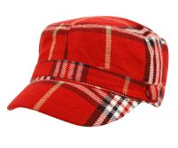 Women's Fashion Plaid Cadet Cap
