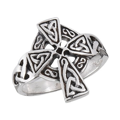 Sterling Celtic Cross Ring