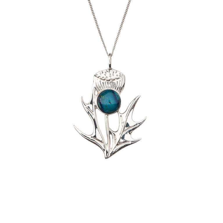 Heathergems Silver Thistle Pendant