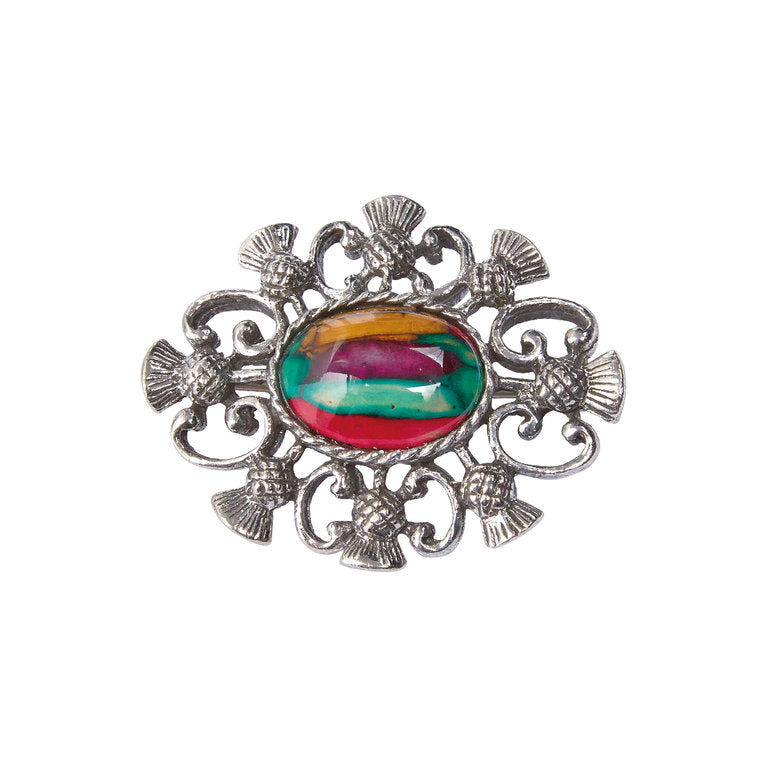 Heathergems Alyth Thistle Brooch