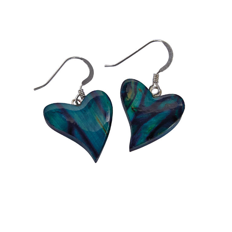 Heathergems Silver Heart Earrings