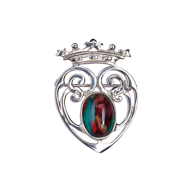 Heathergems Silver Luckenbooth Brooch