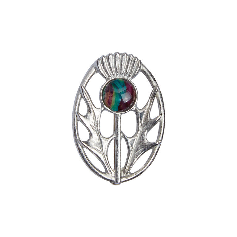 Heathergems Pewter Plaid Brooch