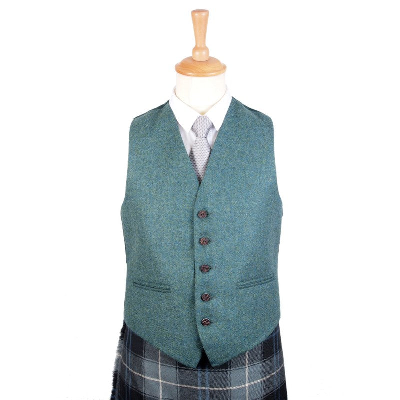 Argyll Tweed Vest in Highland Green
