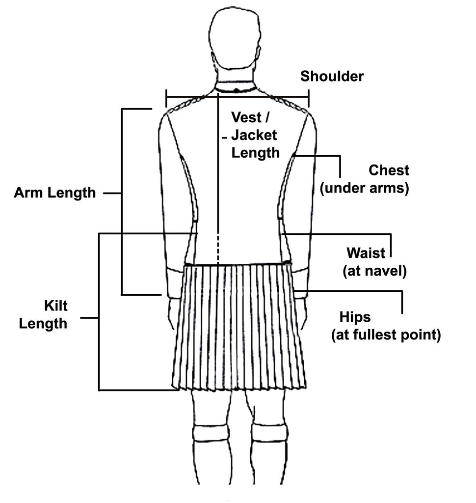 Custom Standard 8 Yard 13oz Medium-Weight Wool Kilt