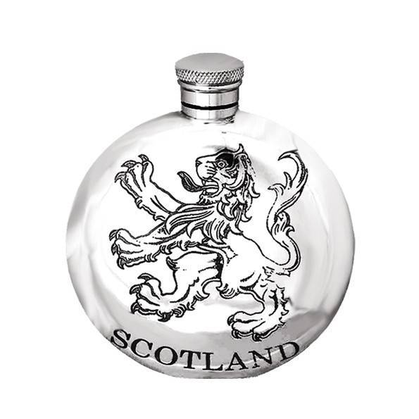 Scotland Circular 6oz Pewter Hip