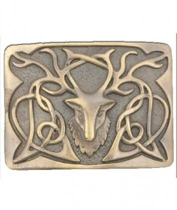 Antiqued Stag Kilt Belt Buckle