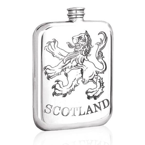 Scotland 6oz Pewter Flask