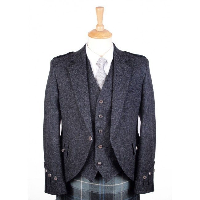 Tweed Jacket Charcoal