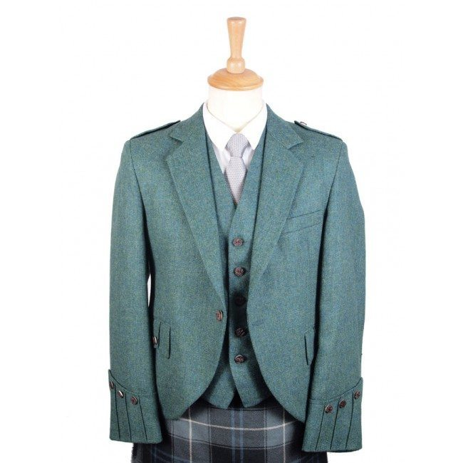 Tweed Argyll Jacket and Vest Highland Green