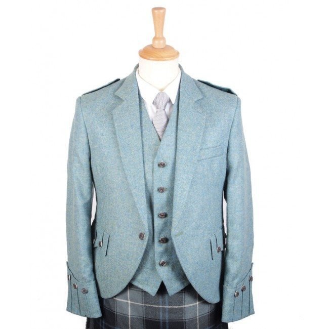 Tweed Jacket and Vest Lovat Blue