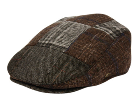 Tweed Patchwork Wool Cap
