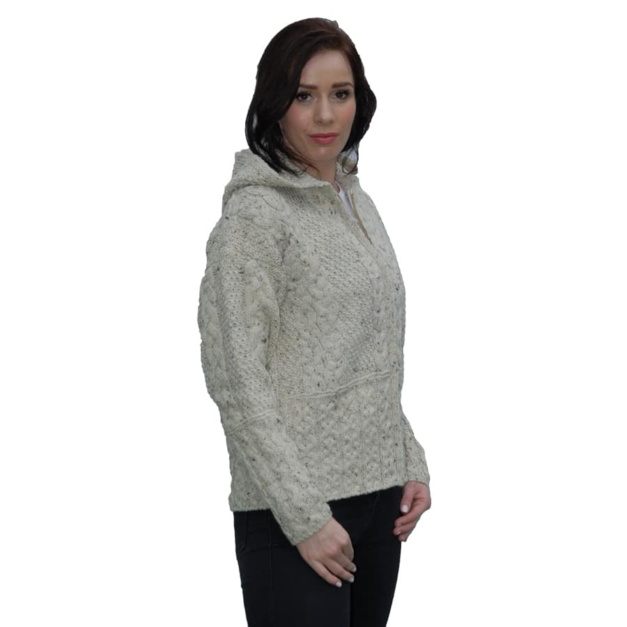 Wool Zip Up Hoody Sweater