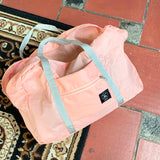 customer pic 2 folding duffel bag in pink
